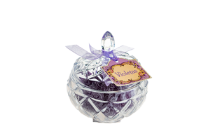Tarro cristal de violetas de 200 grs.