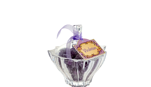 Tarro cristal de violetas de 150 grs.