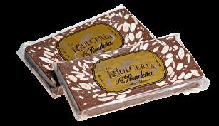 Turrón de chocolate y almendra tableta de 300 grs.