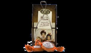 Polvorón de naranja con chocolate estuche de 250 grs.