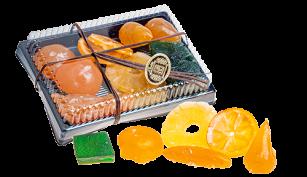 Fruta glaseada estuche de 500 grs.